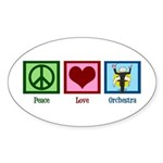 Peace Love Orchestra Sticker (Oval)