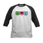 Peace Love Orchestra Kids Baseball Jersey