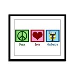 Peace Love Orchestra Framed Panel Print