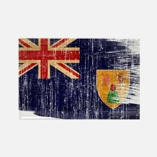 Turks and Caicos Flag Rectangle Magnet