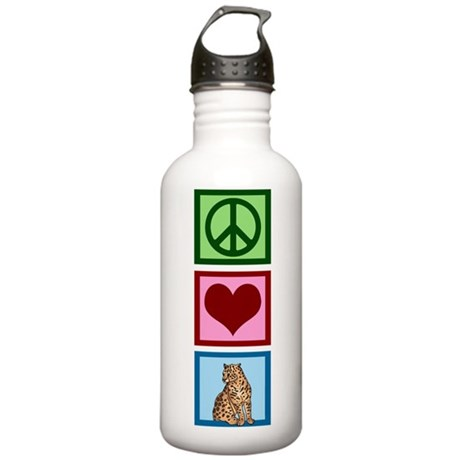 Peace Love Cheetahs Stainless Water Bottle 1.0L
