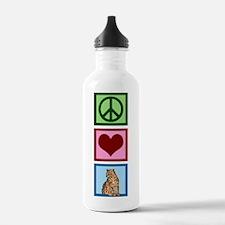 Peace Love Cheetahs Water Bottle