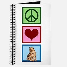 Peace Love Cheetahs Journal