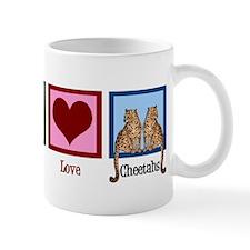 Peace Love Cheetahs Mug