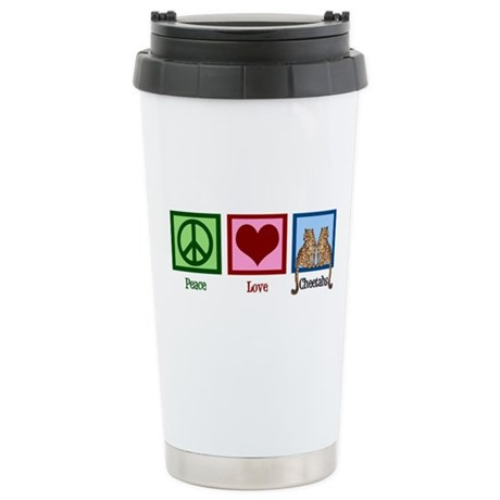 Peace Love Cheetahs Stainless Steel Travel Mug