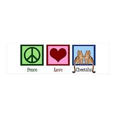 Peace Love Cheetahs Wall Decal