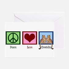 Peace Love Cheetahs Greeting Cards (Pk of 20)