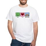 Peace love cheetahs Mens White T-shirts