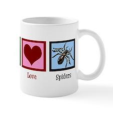 Peace Love Spiders Mug