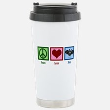 Peace Love Bats Stainless Steel Travel Mug
