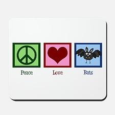 Peace Love Bats Mousepad