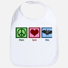 Peace Love Bats Bib
