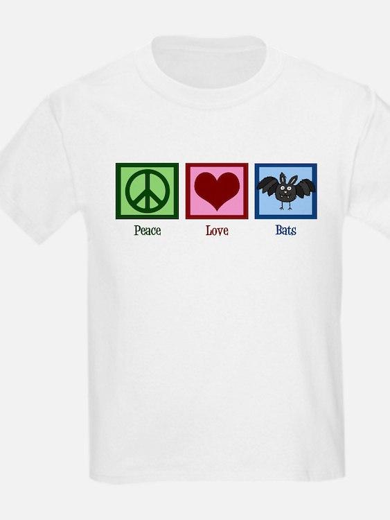 Peace Love Bats T-Shirt