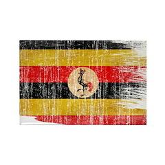 Uganda Flag Rectangle Magnet (100 pack)
