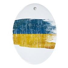 Ukraine Flag Ornament (Oval)
