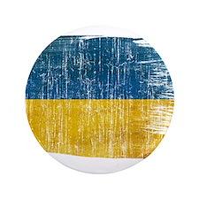 """Ukraine Flag 3.5"""" Button"""