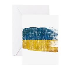 Ukraine Flag Greeting Cards (Pk of 20)
