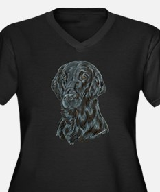 Flat Coated Retriever Women's Plus Size V-Neck Dar