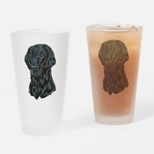 Flat Coated Retriever Drinking Glass