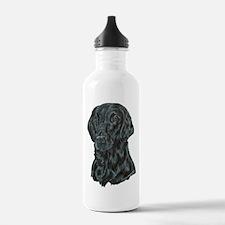 Flat Coated Retriever Water Bottle