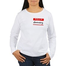 Gwendolyn, Name Tag Sticker T-Shirt