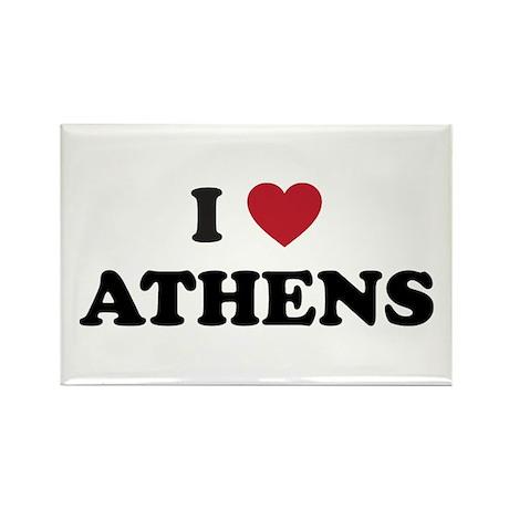 I Love Athens Rectangle Magnet