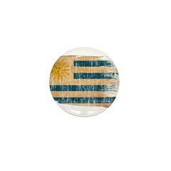 Uruguay Flag Mini Button (100 pack)