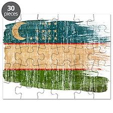 Uzbekistan Flag Puzzle