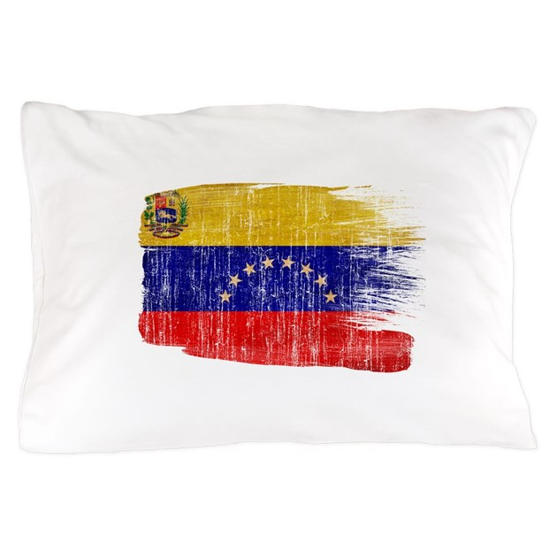 Venezuela Flag Pillow Case By Fadedpaintflags