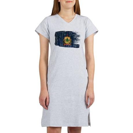 Vermont Flag Women's Nightshirt