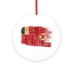 Wallis and Futuna Flag Ornament (Round)
