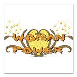 woman_power01.png Square Car Magnet 3