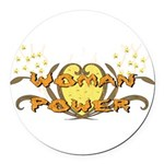 woman_power01.png Round Car Magnet