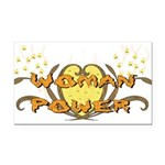 woman_power01.png Rectangle Car Magnet