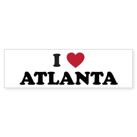 I Love Atlanta Georgia Sticker (Bumper)