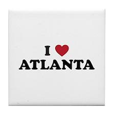 I Love Atlanta Georgia Tile Coaster