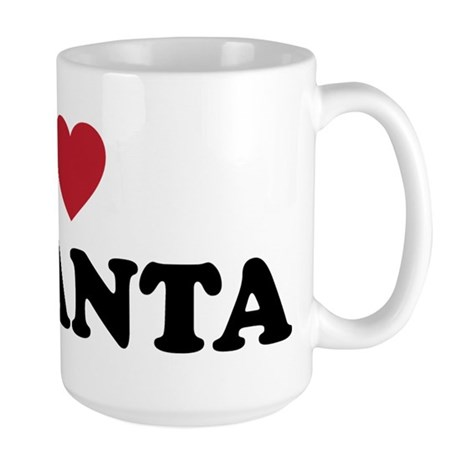 I Love Atlanta Georgia Large Mug