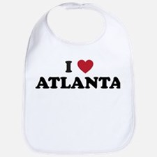 I Love Atlanta Georgia Bib