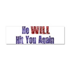 abuse022.png Car Magnet 10 x 3