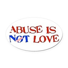 abuse01.png Oval Car Magnet