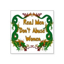 "realmen01.png Square Sticker 3"" x 3"""