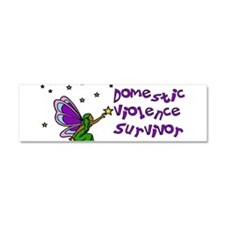 domestic_violence_survivor01.png Car Magnet 10 x 3