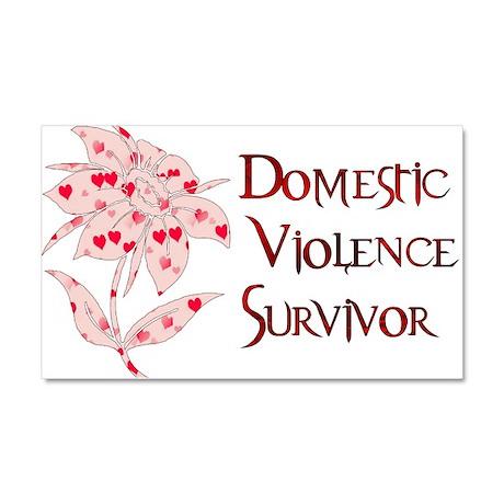 domestic_violencesurvivor01.png Car Magnet 20 x 12