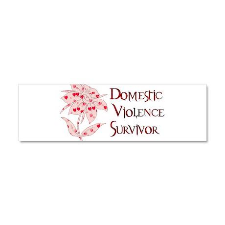 domestic_violencesurvivor01.png Car Magnet 10 x 3