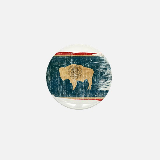 Wyoming Flag Mini Button (100 pack)