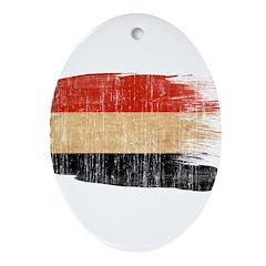 Yemen Flag Ornament (Oval)