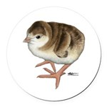 Bourbon Red Poult Round Car Magnet