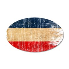 Yugoslavia Flag 38.5 x 24.5 Oval Wall Peel