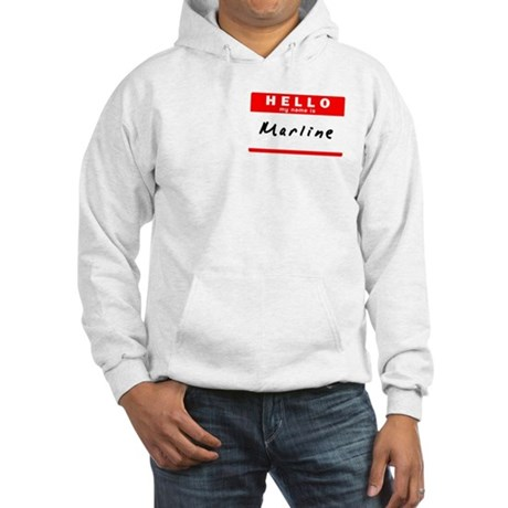 Marline, Name Tag Sticker Hooded Sweatshirt