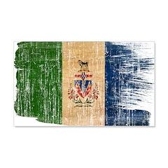 Yukon Territories Flag 22x14 Wall Peel